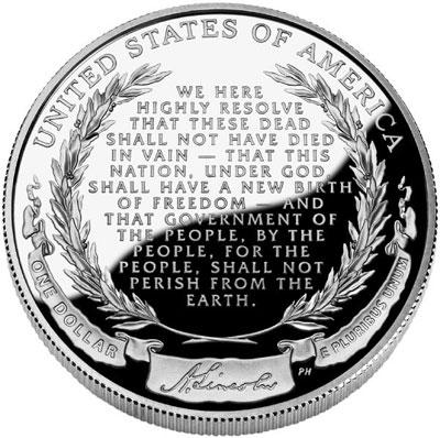 2009 Lincoln Commemorative Silver Dollar Reverse